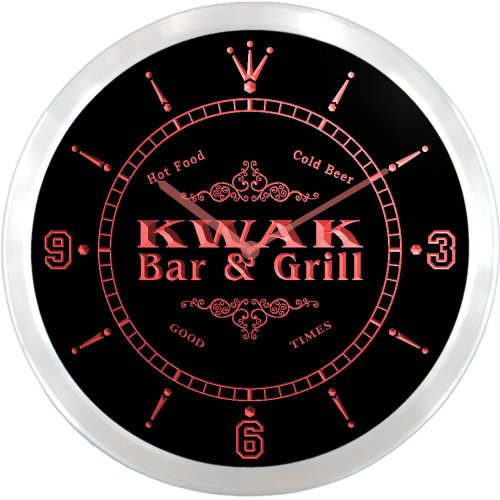 ncu24834-r-kwak-family-name-bar-grill-cold-beer-neon-sign-led-wall-clock
