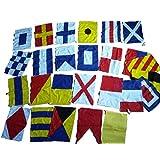 Everything Nautical Naval Signal Flags / Flag Set- 100% Cotton - Total 26 Flag - Length 24 Feet 24 feet