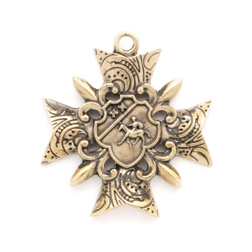 Large French Style Bronze Charm