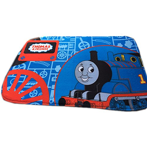 E.a@market Cartoon Thomas Coral Velvet Non-slip Floor Mats 38*58cm (Thomas -blue)