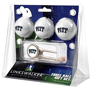 Pittsburgh Panthers NCAA 3 Ball Gift Pack w  Cap Tool by LinksWalker