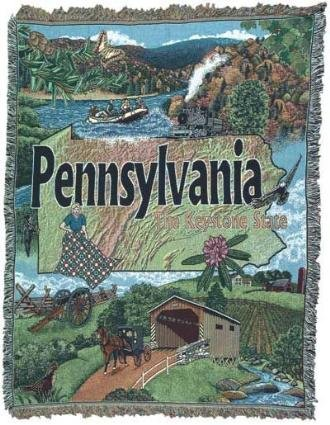 Pennsylvania Tapestry Throw Blanket