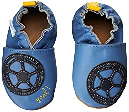 Robeez Soccer Boy Crib Shoe,Blue,0-6 Months M US