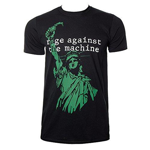 T Shirt Rage Against The Machine Liberty (Nero/Verde) - X-Large