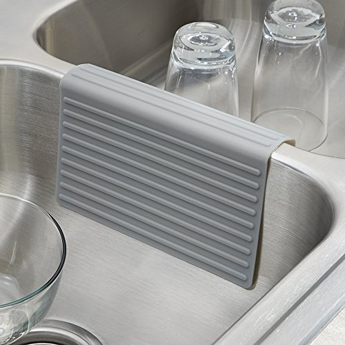 InterDesign Lineo Silicone Sink Divider Protector, Gray Sporting Goods ...