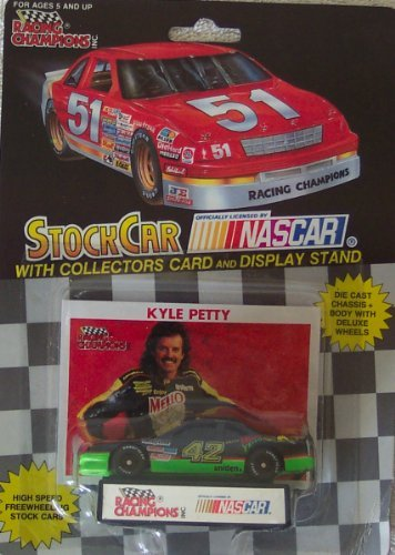 1991 NASCAR Racing Champions . . . Kyle Petty Mello Yello 1/64 Diecast . . . Includes Collectors Card and Display Stand