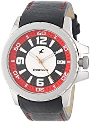 Fastrack Mens 3029SL03 Date Function Analog Quartz Watch