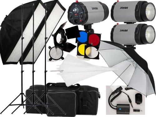 900w Studio Flash Lighting set 3 x 300 watt Light Kit