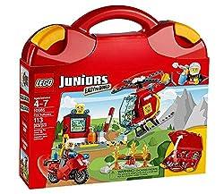 Lego Spielwaren GmbH LEGO® Juniors 10685 LEGO® Juniors Feuerwehr-Koffe r Flieg mit dem schnellen Hubschrauber zum Brandherd und lösche das Feuer! Mit dem LEGO® Juniors Feuerwehr-Koffer kannst du überall Brände löschen! Baue den leicht zu bauenden Feu...