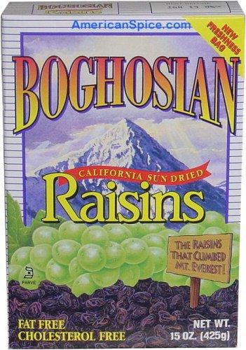 Boghosian California Sun Dried Raisins, 15-Ounce (Pack of 8)