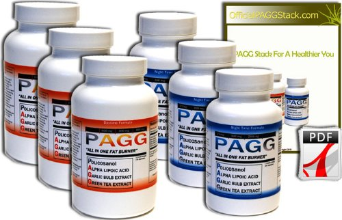 Original PAGG Stack - Free Overnight Shipping - Original Fat Burner - 4 Hour Body By Tim Ferriss (90 Day Supply)
