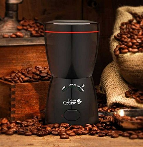 BeanCruise Electric Coffee Grinder Hand Mill Stainless Steel BCG-740AI Black
