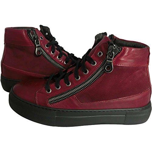 Scarpe Uomo Exton 251 0725 - Sneaker havana bordeaux camoscio barolo made in italy (42)