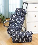 3 Piece Luggage Set - Camo / Camouflage (Rolling Bag, Duffle Bag & Carry On)