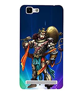 Hanuman Illustration 3D Hard Polycarbonate Designer Back Case Cover for VIVO X5 MAX