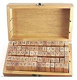 アンティーク で オシャレ な アルファベット スタンプ イニシャル 数字 大文字 小文字 も(アルファベットと数字 70pcs)