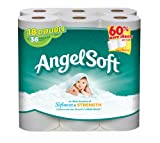Angel Soft Double Roll Toilet Tissue, White, 18 ct
