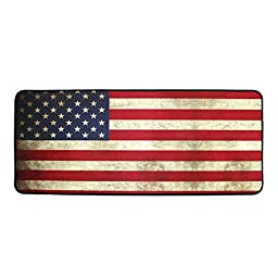 The Holic Vintage Flag Gaming Mouse Pad with an Optimized Textured Surface / Non-slip Rubber Base Wide Gaming Mouse Mat (US)