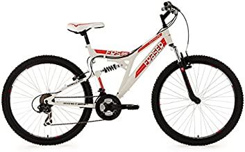 KS Cycling Fraser VTT tout suspendu Blanc 26''/48 cm