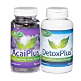 Acai Plus Extreme Fat Burner with Detox Colon Cleanse (1 Month Supply)by Evolution Slimming
