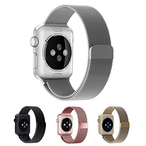 Apple Watch Bracelet, EH HE 42mm Bracelet en Acier Inoxydable avec Fermoir Magnétique Unique pour Apple Suivre Tous les Modèles Pas Besoin Buckle