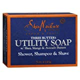 Shea Moisture - Three Butters Utility Bar Soap, 5 oz bar soap