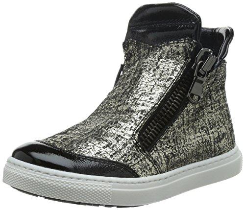 CIAO BIMBI - Sneaker argentata e nera in pelle, Bambina,ragazza,ragazze-28