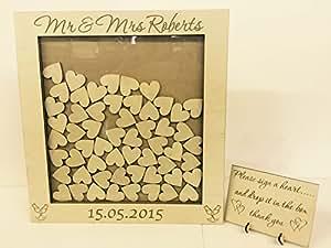 ... gift Wedding anniversary birthday rustic shabby chic 40x40cm: Amazon