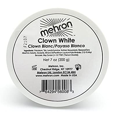 Mehron Clown White Makeup (7 oz)