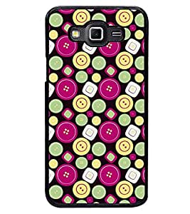 Printvisa Smiley And Square Pattern Back Case Cover for Samsung Galaxy Grand 3 G720