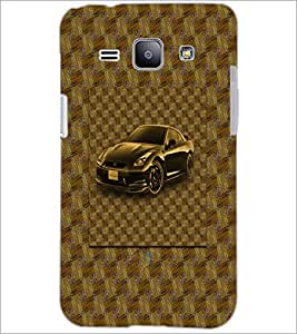 PrintDhaba Car D-3870 Back Case Cover for SAMSUNG GALAXY J1 (Multi-Coloured)