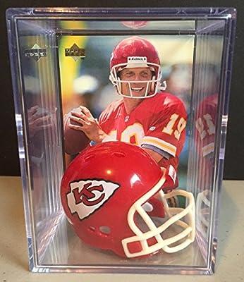 Kansas City Chiefs NFL Helmet Shadowbox w/ Joe Montana card