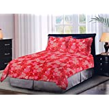 Bombay Dyeing 100% Cotton Double Bedsheet With Pillow Cover