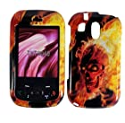 Hard Burning Skull Shell Case Cover Accessory for Pantech Jest TXT8040 with Free Gift Aplus Pouch