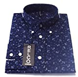 Navy Floral Pattern Men's Classic Mod Vintage Design Shirt`s FREE UK DELIVERY