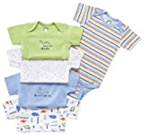 Gerber Variety Bodysuits Brand, 5 Pack, Boys, 24 Months