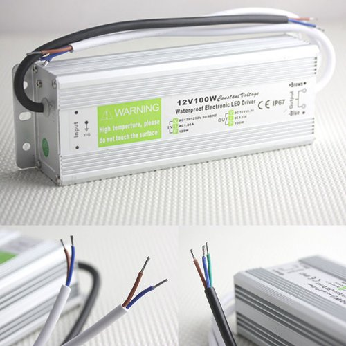 Orierchant New 12V 100W Waterproof Electronic Led Driver Transformer Power Supply Ac170V-250