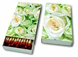 Kaminhölzer White roses - Weiße Rosen