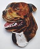 Brown Staffordshire Bull Terrier Fridge Magnet - D2J