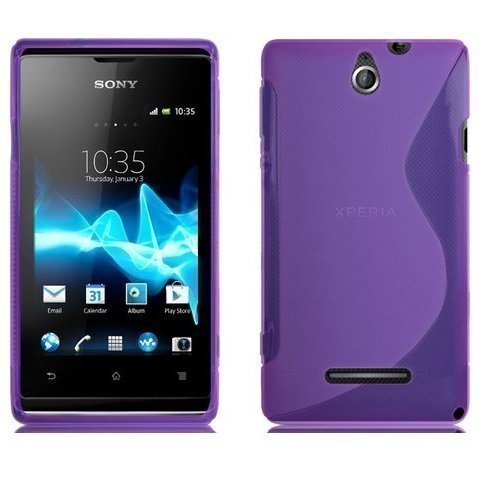 gadget-boxx-sony-xperia-e-c1505-s-line-silicone-gel-in-purple-cover-case-and-screen-protector