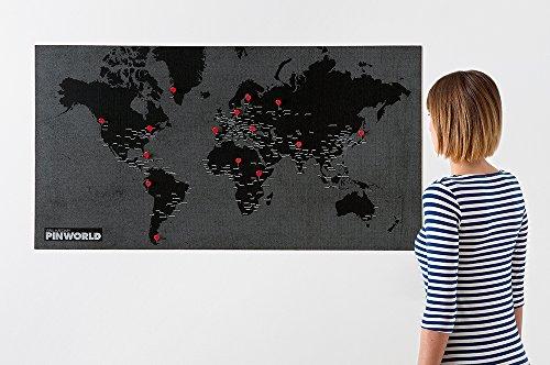 Pin World - Black: Die coolen Vlieskarten für Reiseerlebnisse