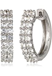 Sterling Silver Create Hoop Earrings