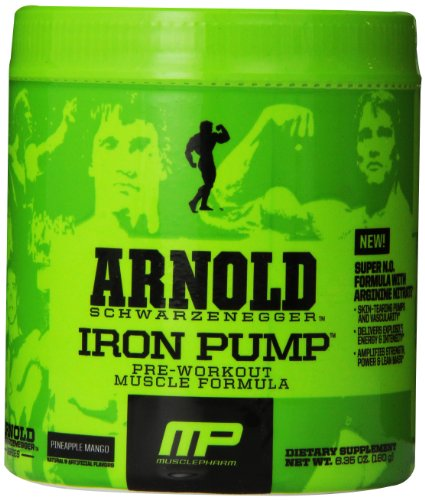 Arnold Schwarzenegger Series Arnold Iron Pump Supplement, Pineapple Mango, 6.35oz (Arnold Iron Pump Pre Workout compare prices)