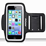 Mpow® Running Sport Sweatproof Armband Case + Key Holder for iPhone 5/5S/5C, iPod Touch 5, with Adjustable size, Safety Design, Suitable for Exercise, Gym, Jogging, Workout, Biking, hiking, canoeing, walking, horseback riding, gardening, golfing, shopping, rollerblading, downhill & nordic skiing, housework, and More