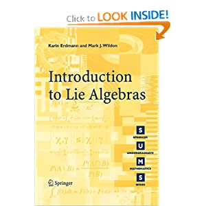 Introduction to lie algebras Karin Erdmann, Mark J. Wildon