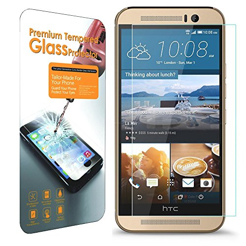 HTC ONE M9 Screen Protector, IMZ® [Tempered Glass] Slim (0.33 mm + 9H) Rounded Edge High Quality Premium Guard Screen Protector for HTC ONE M9 - Retail Packaging 2015