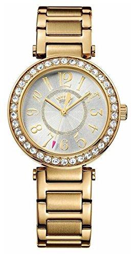 Juicy Couture Luxe di orologio al quarzo da donna in argento con display analogico e cinturino in oro rosa e 1901151