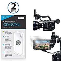 Sony PXW-FS5 Screen Protector, BoxWave [ClearTouch Crystal (2-Pack)] HD Film Skin - Shields From Scratches for Sony PXW-FS5
