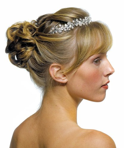 Buy Weddingstar - Weddingstar Inc. Garden Tiara In Silver With White Pearls  One Size