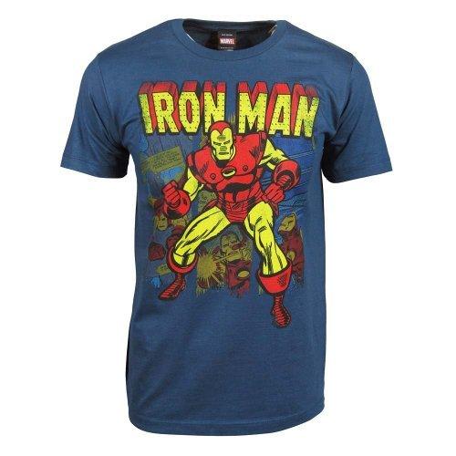 Iron Man Multiple Retro Images 30 Single T-Shirt- Xxlarge front-983793